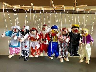 String Wooden Puppet Marionette Pack of 16