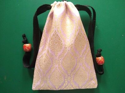 Handmade Thai Pink Silk Tarot Pouch Bag Dice Pouch Jewelry Bag With Drawstring