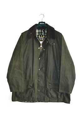 Vintage Barbour Beaufort Waxed Jacket Green size men's XL c46/117cm