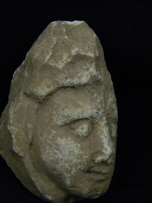 Ancient Stucco Warrior Head Gandhara/Gandharan 200 AD  #STC5227