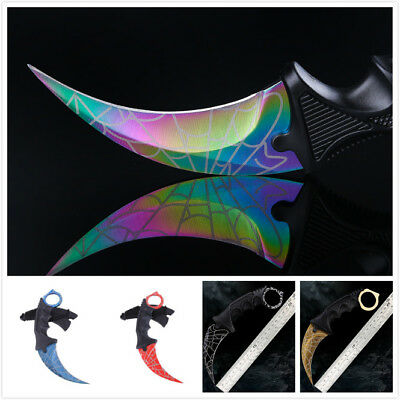 CS Knife Outdoor Camping Folding Stainless Knife Hunting Survival Sharp Blade&QK