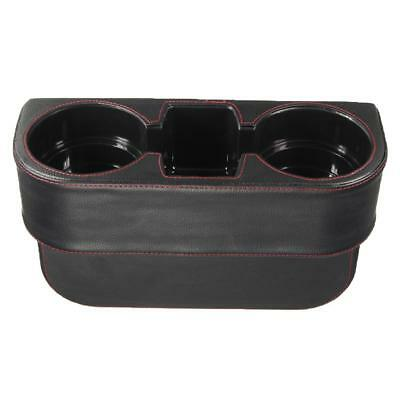 PU Leather Car Seat Gap Cup Holder Drink Bottle Storage Phone Holder Stand