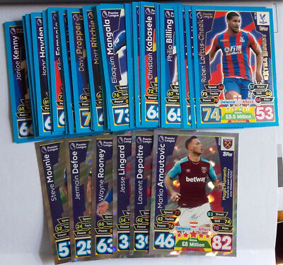 Topps Match Attax Extra 2017/18 17/18 - Choose 10 Cards From Attached List