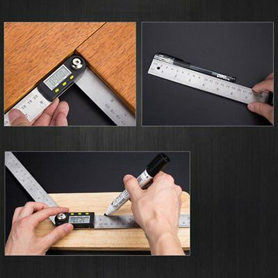 2in1 Digital Angle Finder Meter Folding Ruler Measurer 200MM 360° Protractor ML