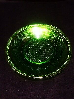 Green Depression Glass Sweet Plate