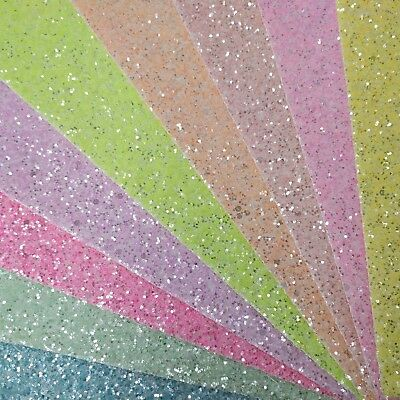 Disco Ball Fine Glitter Fabric A4 Or A5 Sheets For Hair Bows /& Crafts Shiny Foil