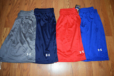 NWT Mens UNDER ARMOUR Blue Navy Red Gray Mesh Loose Fit Athletic Shorts