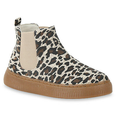 MUST-HAVE DAMEN SCHUHE 118621 SNEAKERS LEOPARD 37 STYLISCH