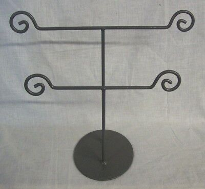 """Store Display Fixtures METAL JEWELRY DISPLAY STAND 2 TIERS 12"""" tall x 14"""" wide"""