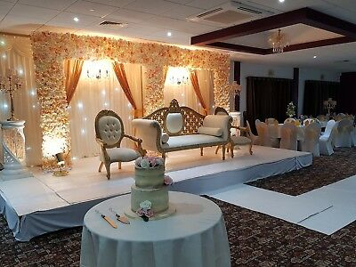 Wedding Mehndi Stage Sofa Throne Chairs Centrepiece Chair Covers London Hire