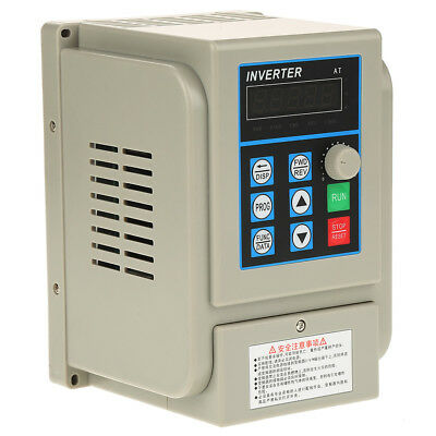 12A 2.2KW AC 220V VFD Variable Frequency Motor Speed Drive Single-Phase/ 3-Phase