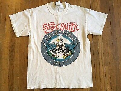 2001 Aerosmith Aero Force One Just Push Play World Tour Band Concert T-shirt M
