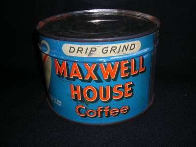 Vintage Maxwell House Drip Grind Coffee can 1 Pound Home decor True vintage lota