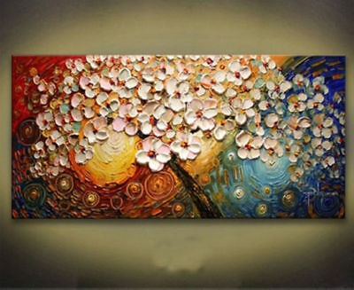 (No Frame) Modern Abstract Hand-painted Art Oil Painting Wall Decor Canvas,Tree