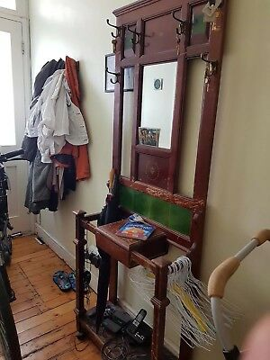 Antique edwardian mahogany coat stand