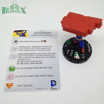 Heroclix The Brave and the Bold set Superman #017 Uncommon figure w//card!