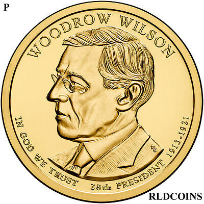 2013 P President Woodrow Wilson Uncirculated Presidential Dollar  #28P