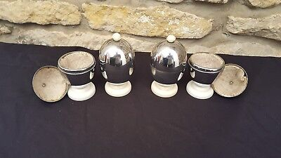 Retro / Vintage Set of Four Heatmaster Insulated Egg Cups