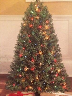 4ft PRE LIT Indiana Spruce HOLIDAY CHRISTMAS TREE