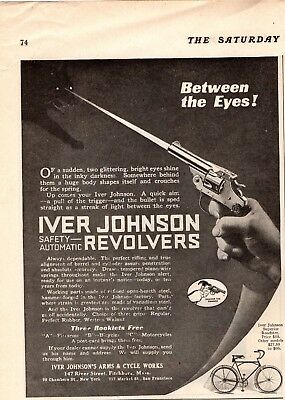 1919 Magazine Print Ad Iver Johnson Revolver Advertisement A157
