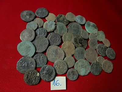 Ancient Roman coins - UNCLEANED COINS - Beautiful . Lot with 40 pieces .No.16