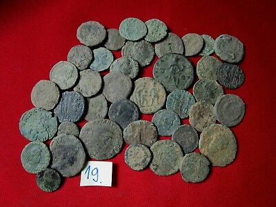 Ancient Roman coins - UNCLEANED COINS - Beautiful . Lot with 40 pieces .No.19