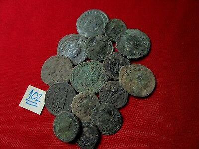 QUALITY UNCLEANED COINS - Ancient Roman - VERY GOOD. Lot with 15 pieces .No.102