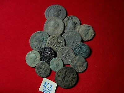 QUALITY UNCLEANED COINS - Ancient Roman - VERY GOOD. Lot with 15 pieces .No.103