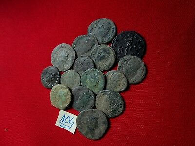 QUALITY UNCLEANED COINS - Ancient Roman - VERY GOOD. Lot with 15 pieces .No.104