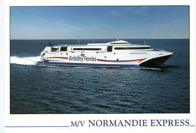 """Carte postale """"M/V NORMANDIE EXPRESS """" Compagnie Brittany Ferries"""
