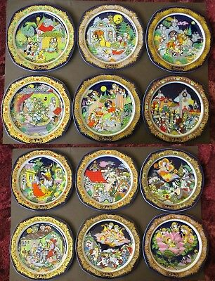 12 Rosenthal Xmas Plates 1983-1994 Bjorn Wiinblad CASH ON COLLECTION ONLY