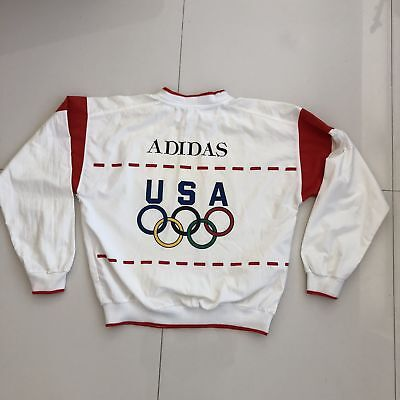 22f533c9a2 RARE VINTAGE ADIDAS USA 1988 Olympics Crewneck Sweater Mens XL Red White  Blue