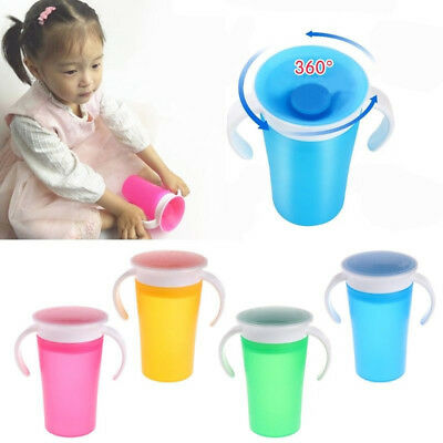 360 Degree Magic Drinking Prevent Leaking Cup Training Cup For Students 260ML SS