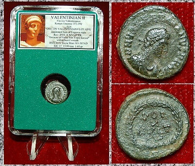"Ancient Roman Coin VALENTINIAN I ""Five Years Vows Paid"" VOT V MVLT X Wreath"