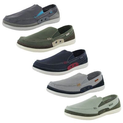 Crocs Mens Walu Accent Slip On Loafer Shoes