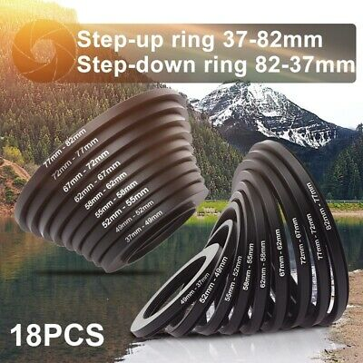 18x Step Up Down Lens Filter Adapter Ring 37 49 52 55 58 62 67 72 77 82mm DC453
