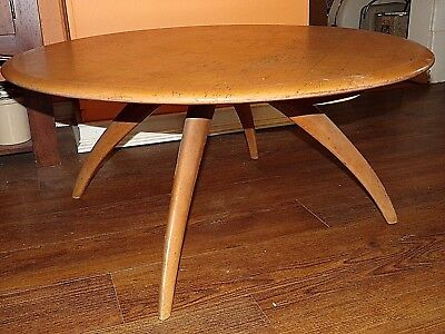 VINTAGE HEYWOOD WAKEFIELD COFFEE TABLE Lazy Susan Mid Century Modern