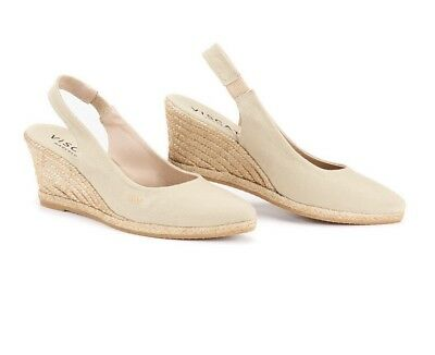 0b6f1bc2240 US Shoe Size Soft Canvas Wedge Slingback Pointed Toe Espadrilles Heel  Comfort