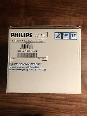 NIB Philips Model # PHI/915P020010 Projection Television Bulb And Housing