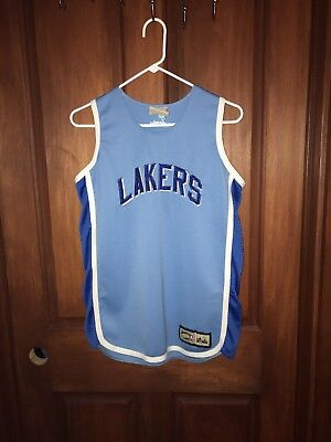 dec1bce2a Vtg Los Angeles Lakers Jerry West Majestic Hardwood Classics Jersey Youth  XL NBA
