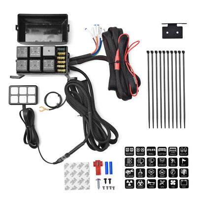 Amazing 12V 6 Gang Switch Panel Relay Control Box Wiring Harness For Car Wiring Cloud Inamadienstapotheekhoekschewaardnl