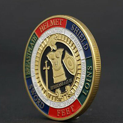 Put On The Whole Armor Of God Commemorative Gold Challenge Coin Collection Gift