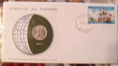 Coins of All Nations Bermuda 25 cents 1973 UNC