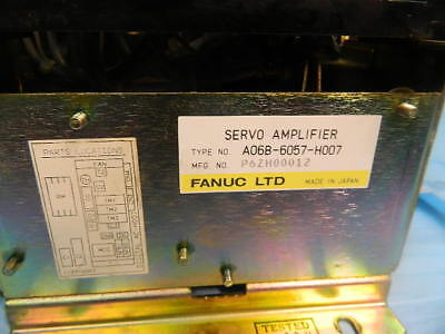 Fanuc Servo Amp A06B-6057-H007 Reconditioned With 90 Day Warranty Core Refund