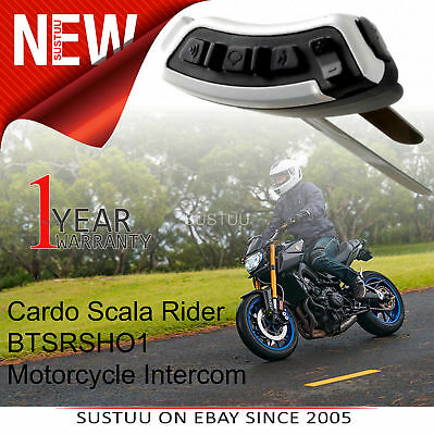 Cardo Scala Rider SHO-1 Bluetooth Headset│Motorcycle/ Bike Helmet Intercom│Black