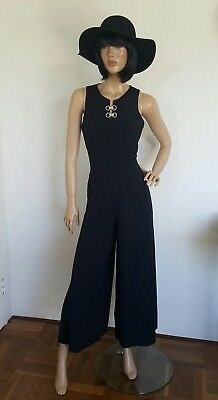 VINTAGE JUMPSUIT. Size 10. With Sexy Side Splits