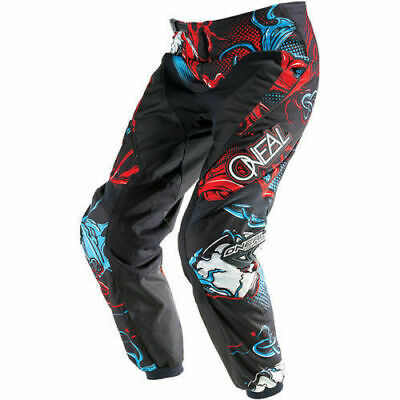 Oneal Mx Element Mutant Red/Blue Motocross Dirt Bike Moto Adult Pants