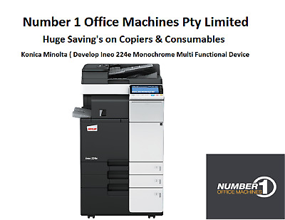 Develop (Konica) 224e Mono Copier, Fax, Network Print/Scan to email/ PDF/TIFF