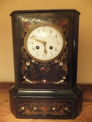 Antique French  Ebonised 8 day Bracket Clock Medaille de Bronze By J. Marti