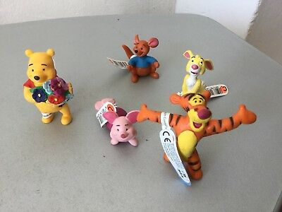 Bullyland Disney Figure - Winnie The Pooh  Series 5x Mini Figures